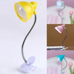 Mini Battery Operated Clip On Bedside Reading Desk Table LED Light Lamp UK3