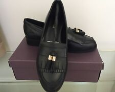 Carvela Black Real Leather Tassels Shoes Size 6