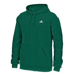 Adidas Men's Green Adi Badge Of Sport Logo Pullover Hoodie Fleece