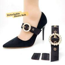 Съемный со стразами туфли ремешок полоска из искусственного жемчуга аксессуары для высокого каблука