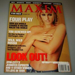MAXIM Magazine #13 November 1998-A Jennifer Esposito - Wild Wild Russia