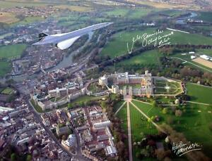 CONCORDE FLYING OVER WINDSOR CASTLE  HAND SIGNED 16X12 PHOTOGRAPH NEW £45.00