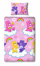 NEW CARE BEARS SINGLE ROTARY REVERSIBLE DUVET QUILT COVER BEDDING SET