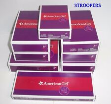 AMERICAN GIRL DOLL LEA LOT - 8 COMPLETE NEW BOXED SETS OF HER ITEMS - NO DOLL