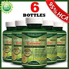 6 x BOTTLES 360 Capsules 3000mg Daily GARCINIA CAMBOGIA HCA 95% Weight Loss Pill