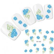 Nagel Sticker Blumen Nail Art Aufkleber Blue Flower Fuß Water Decal