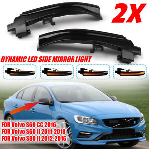 For Volvo V60 S60 S80 V70 III V40 II V40 CC Led Dynamic Turn Signal Mirror Light