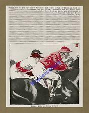 Plakatmaler Ludwig Hohlwein Pferde Galopprennen Jockey Reitsport Reklame 1925