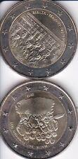 2 euros commemoratives malte 2012 + 2013 UNC