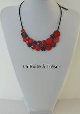 Collier  Fantaisie  Pure By Noa Camélia Rouge Strass - Bijoux Pure By Noa