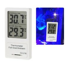 Aquarium Thermometer Digital LCD Display Temperature For Indoor& Fish Tank Water