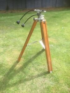 Vintage adjustable Astronomical Wooden Tripod no scope Lamp conversion upcycle