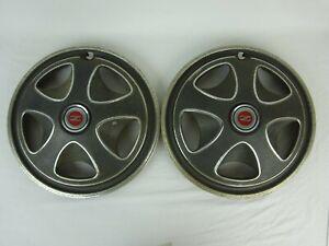 "(2) Vintage Datsun 240Z Hubcaps Wheel Covers ~ 14"""