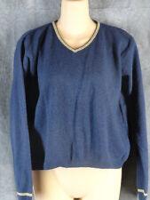 Free People M Wool Navy Blue Long Sleeve Sweater