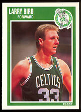 1989 FLEER BASKETBALL #8 LARRY BIRD NM BOSTON CELTICS INDIANA HOF FREE SHIP