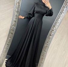 Damen Abendkleid Hijab Hochzeit Kleid Lang