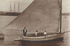 1890's Providence Rhode Island Catboat Sailboat Cat Boat 3-Masted Ship
