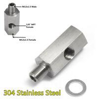 304 Stainless Steel Oil Pressure Gauge Adapter 1/8in NPT Male to M12x1.5 Female