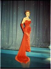 Mitzi Gaynor Breathtaking Glamour Portrait Red Dress Original 8x10 Transparency