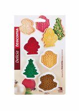 Tescoma Ausstecher mit Stempel für Kekse Plätzchen Weihnachten 4er Set Keksform