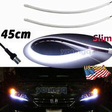 Illuminating Slim Flexible Headlight LED DRL Daytime Running Light Strip 45CM