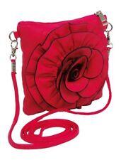 Borsa/borsetta rossa per bambine con applicazione grande fiore.Idea regalo