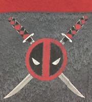 Deadpool Men's T-Shirt Big Graphic Head Logo Marvel Comics Tee Red Gray Size 2X
