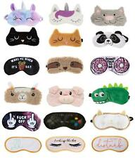 Travel Sleep Aid Eye Mask Dinosaur Llama Rude Cat Unicorn Sloth Blindfolds