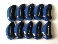 10PCS Golf Iron Headcovers for Cobra Club Head Covers 4-LW Blue&Black Universal