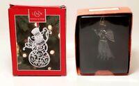 Lenox Snowman & Lifeway Christmas Angel Ornaments