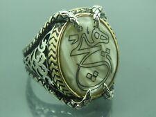 Turkish Handmade Jewelry 925 Sterling Silver Pearl Stone Men's Ring Sz 12