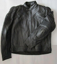 Rayven Interceptor Black Leather Armour Motorcycle Jacket RRP £189.99