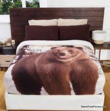 Bear Brown Blanket Fleece Sherpa Comforter Gift Winter Twin Full Decoration New