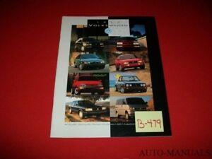 VINTAGE 1993 VOLKSWAGEN FULL CAR LINE DEALER BROCHURE JETTA GOLF GTI PASSAT MORE