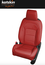 2016 2017 2018 2019 Chevy Camaro All Red Katzkin Leather Seat Replacement Covers