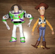 """Disney Toy Story Woody and Buzz Talking Figures 12""""-14"""" And Blanket Free P&P"""