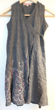 Gorgeous One Red Fly oneredfly grey linen beaded wrap dress Size 5
