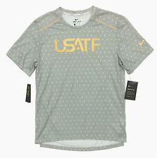 Nike Men's Team Usa Track & Field 365 Running Shirt Size L Star Print Dri-Fit