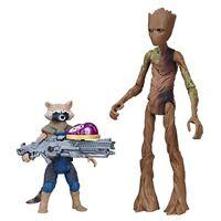 AVENGERS E2070EL2 War Rocket Raccoon and Groot with Infinity Stone Figure