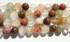 Rutilated quartz  10mm round beads