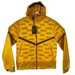 Nike Aeroloft Goose Down Lightweight Running Jacket Reflective Trim Men's Medium