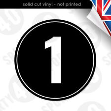 2x Round Race Number - Decal Vinyl Sticker - Cut-Out Number Roundel 2316-0619