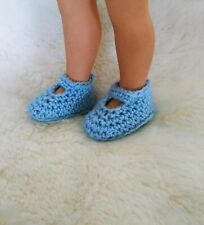 shoes for doll foot 5,5 cm 2.2 inch handmade clothes, crochet slippers #3