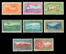 MEXICO 1934 AIRMAIL - University complete set  Scott # C54-61 mint MH