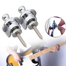 2x Schaller Style Straplocks Electric Acoustic Guitar Bass Strap Locks Button JS