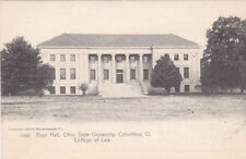 COLUMBUS, Ohio; Page Hall, OSU, College of Law, Requirements for Admission 1905