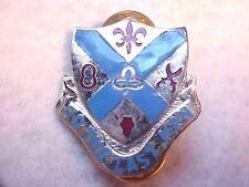 US Military 125th Infantry Regiment Pin Back Crest Medal Badge Clutchback H705