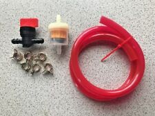 Riding Mower Red Translucent Fuel Line Kit Filter With Magnet, Shut Off, Clamps