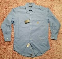 Chaps Ralph Lauren Classic Fit Wrinkle Free Blue Oxford Shirt 16-161/2 32/33