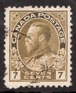 Sc #113i? - Admiral KGV - 1911-25 - 7 Cent Canada -  Used - superfleas - cv$20?
